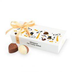 Czekoladki Mini Ballotin White no.4 z Twoimi życzeniami na Dzień Dziadka