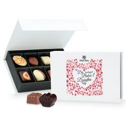 Praliny dla Babci i Dziadka Chocolate Box White Mini
