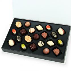 Czekoladki z okazji Dnia Babci i Dziadka Chocolate Box White z Twoimi życzeniami