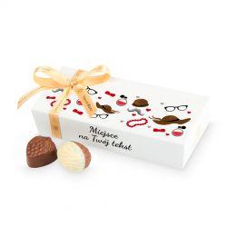 Czekoladki Mini Ballotin White no.4 z Twoimi życzeniami na Dzień Babci i Dziadka