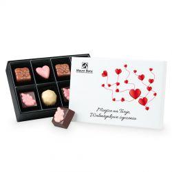 Bombonierka na Walentynki Premium White Mini z Twoimi życzeniami