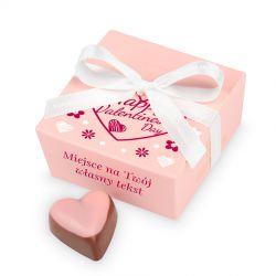 Czekoladki na Walentynki Mini Ballotin Pink no.2 z Twoim tekstem