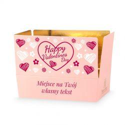 Prezent z okazji Walentynek Mini Ballotin Pink no.3 z Twoim tekstem