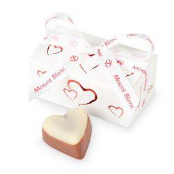 Czekoladki dla zakochanych Mini Ballotin White z serduszkami no.1