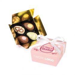 Czekoladki na Wielkanoc Mini Ballotin Pink no.2 z logo Twojej firmy