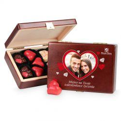 Czekoladowy upominek na Walentynki Decor Dark Happy Valentine's Day z Twoimi życzeniami