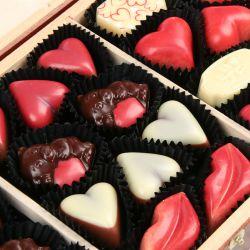 Czekoladki na Walentynki Decor Trio Dark Happy Valentine's Day z Twoim tekstem