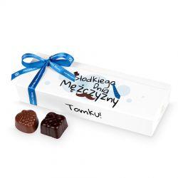Czekoladki Mini Ballotin White no.5 Słodkiego Dnia Mężczyzny z Twoim imieniem