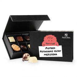 Prezent dla meżczyzny Chocolate Box Black Mini z Twoim imieniem