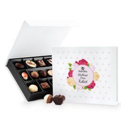Czekoladki Chocolate Box White Medium Słodkiego Dnia Kobiet