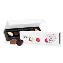 Czekoladki dla kobiety Chocolate Box Long Mini Słodkiego Dnia Kobiet z Twoim logo