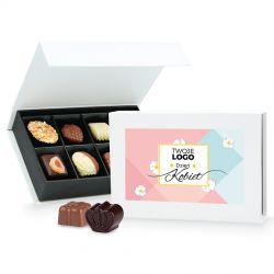 Prezent na Dzień Kobiet Chocolate Box White Mini z Twoim logo