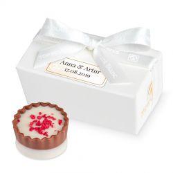 Czekoladki dla gości weselnych Mini Ballotin White no.1