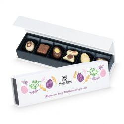 Czekoladki wielkanocne Easter Chocolate Box Long Mini z Twoimi życzeniami