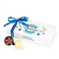 Prezent urodzinowy Mini Ballotin White no.4 z Twoimi życzeniami