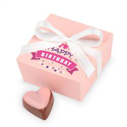 Czekoladki na urodziny Mini Ballotin Pink no.2