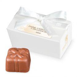 Czekoladki dla gości komunijnych Mini Ballotin White no.1 z Twoim imieniem