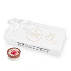 Czekoladki z okazji Pierwszej Komunii Świętej Mini Ballotin White no.4