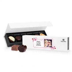 Czekoladki dla mamy Chocolate Box Long Mini z Twoimi życzeniami
