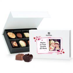 Prezent na Dzień Matki Chocolate Box White Mini z Twoimi życzeniami