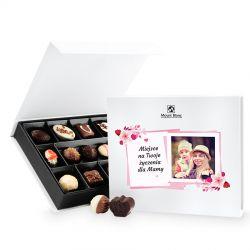 Czekoladki z okazji Dnia Matki Chocolate Box White Medium z Twoimi życzeniami