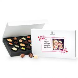 Bombonierka dla mamy Chocolate Box White z Twoimi życzeniami