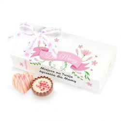Czekoladki dla Mamy Mini Ballotin White no.4 z Twoimi życzeniami