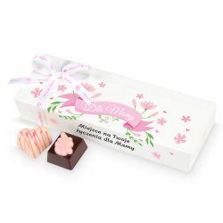 Prezent dla Mamy Mini Ballotin White no.5 z Twoimi życzeniami