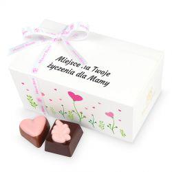 Czekoladowy prezent dla Mamy Ballotin White no.2 z Twoimi życzeniami