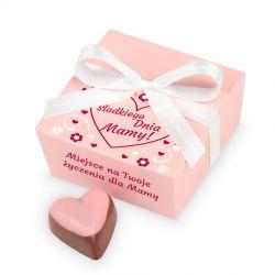 Czekoladki na Dzień Matki Mini Ballotin Pink no.2 z Twoimi życzeniami