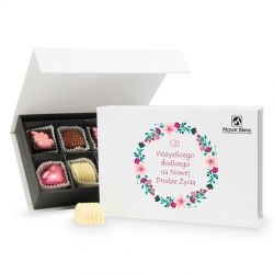 Prezent na ślub Chocolate Box White Mini Wszystkiego Słodkiego