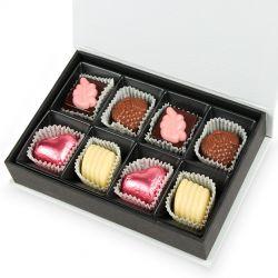 Prezent dla Nowożeńców Chocolate Box White Mini z Twoimi życzeniami