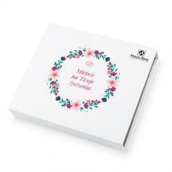 Czekoladki z okazji ślubu Chocolate Box White Medium z Twoimi życzeniami