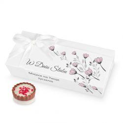 Czekoladki ślubne Mini Ballotin White no.4 z Twoimi życzeniami