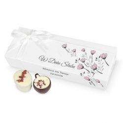 Prezent dla Młodej Pary Mini Ballotin White no.5 z Twoimi życzeniami
