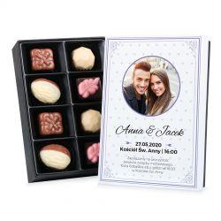 Bombonierka Premium Mini zaproszenie ślubne z Twoim zdjęciem i tekstem