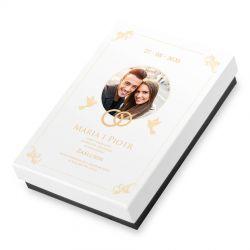 Bombonierka Premium Mini. Zaproszenie ślubne z Twoimi zdjęciem i tekstem