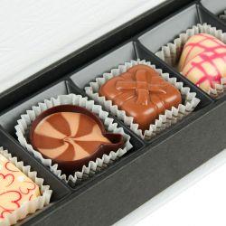 Czekoladki na rocznicę ślubu Chocolate Box Long Mini z Twoimi życzeniami