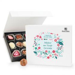 Czekoladki z okazji rocznicy ślubu Chocolate Box White Medium z Twoimi życzeniami