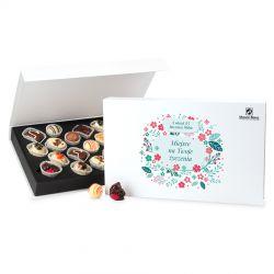 Bombonierka na rocznicę ślubu Chocolate Box White z Twoimi życzeniami
