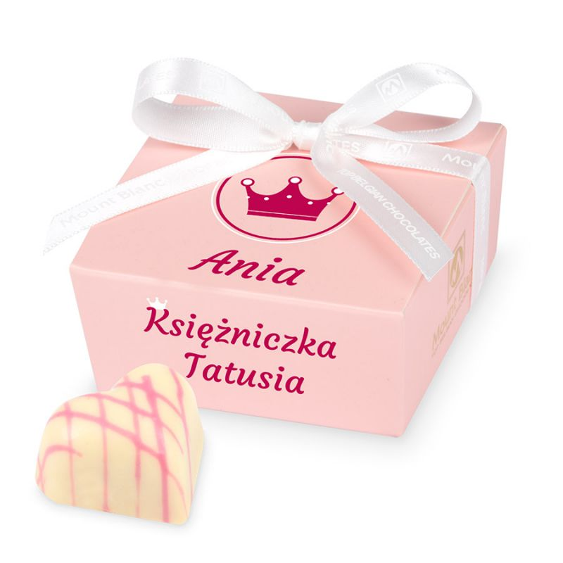 "Prezent Mini Ballotin Pink no.2 ""Księżniczka Mamusi"" z imieniem dziecka"