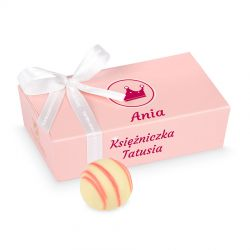 """Prezent dla dziewczynki Mini Ballotin Pink no.3 """"Księżniczka Mamusi"""" z imieniem dziecka"""