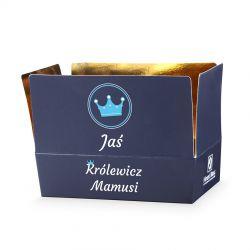 """Prezent dla chłopca Mini Ballotin Blue no.3 """"Królewicz Mamusi"""" z imieniem dziecka"""