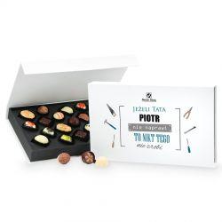 Czekoladki dla taty Chocolate Box White z imieniem