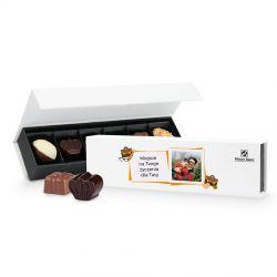 Prezent na Dzień Ojca Chocolate Box Long z Twoim zdjęciem i życzeniami