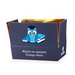 Upominek Mini Ballotin Blue no.3 z życzeniami dla wychowawcy