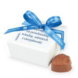 Czekoladki dla nauczyciela Mini Ballotin White no.2 z Twoimi życzeniami