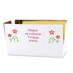 Czekoladki Mini Ballotin White no.4 z Twoimi życzeniemi dla nauczycielki