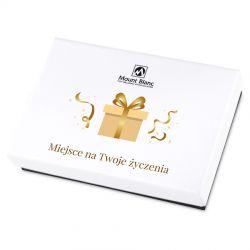 Prezent imieninowy Premium White Mini z Twoimi życzeniami