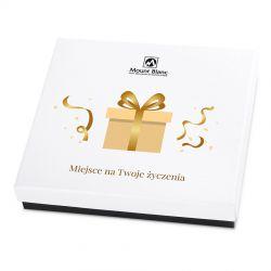 Upominek na imieniny Premium White z Twoimi życzeniami